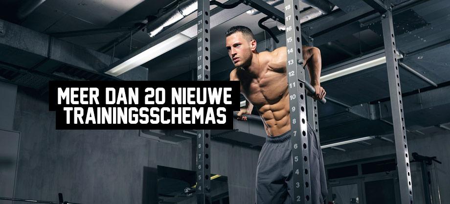 Meer dan 20 nieuwe trainingsschemas