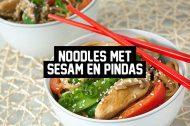 Recept: Noodles met Sesam en Pinda's