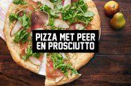 Recept: Pizza met Peer en Prosciutto
