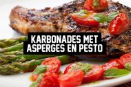 Recept: Karbonades met Asperges en Pesto