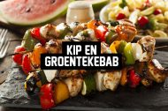 Recept: Kip -en groentekebab